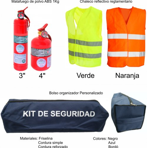 Kit de seguridad Automotor - SEG103 (Medidas)