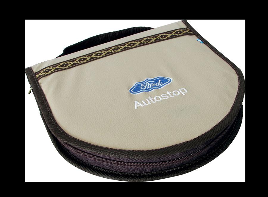 Set de asado simple en simil cuero personalizado  (SAS002) - Fianchini